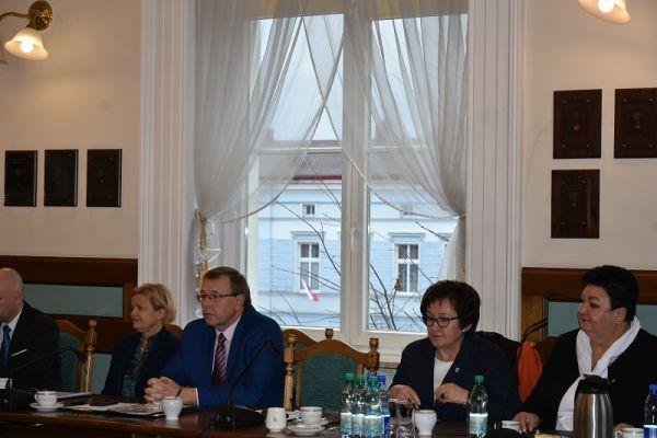 od lewej radni Wegner, Ksepko, Towalewska, Kuch