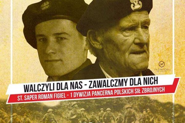 Plakat przedstawiający bohaterów wojennych
