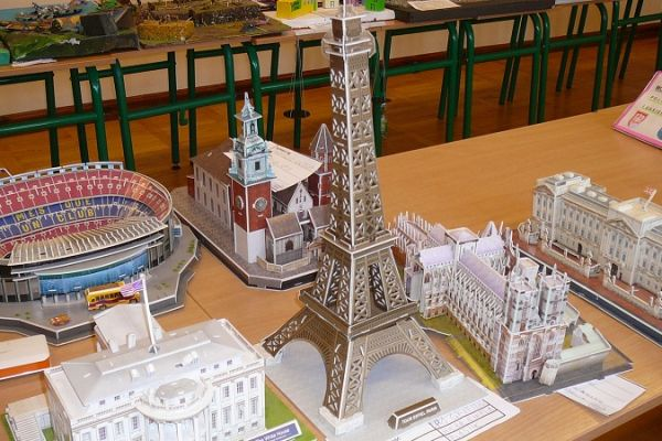 Konkurs modelarski - modele w ktegorii budowle