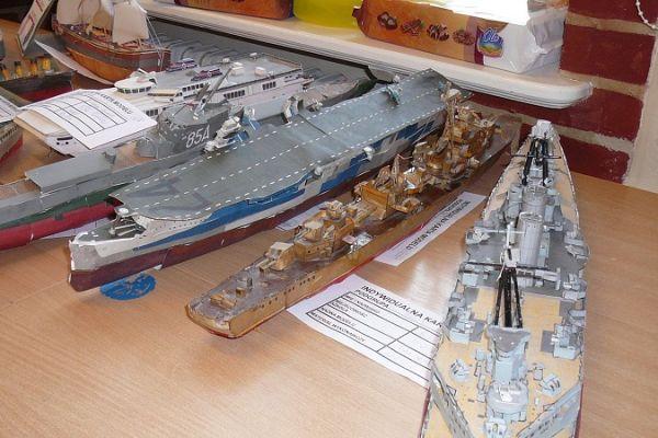 Konkurs modelarski - modele w ktegorii okręty, statki