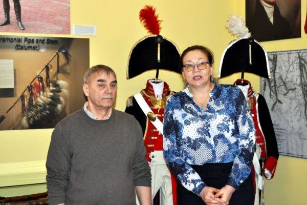 Na zdjęciu magda Suchorska - Dyrektor Muzeum oraz dr Adam Piekarski - autor książki
