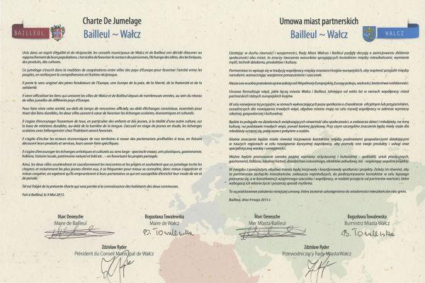 Umowa między miastami Wałcz - Bailleul