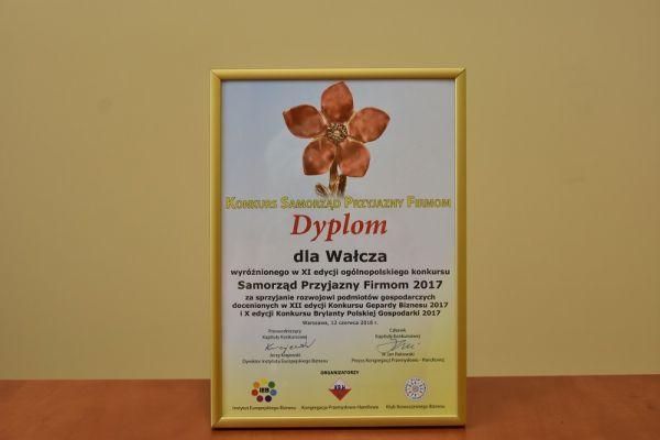 dyplom dla miasta