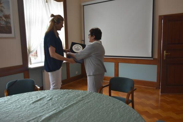 Malgorzata Glinka z panią Burmistrz