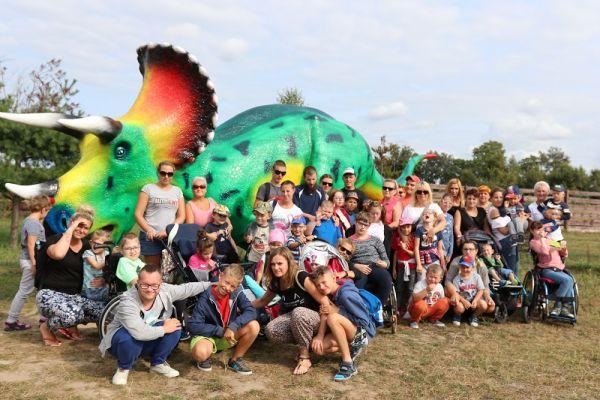 zdjęcie z dinozaurem